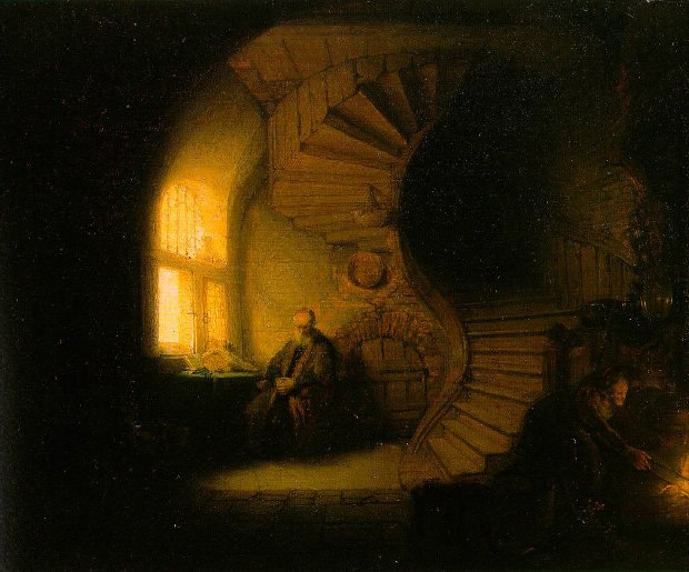 Rembrandt's The Philosopher in Meditation.