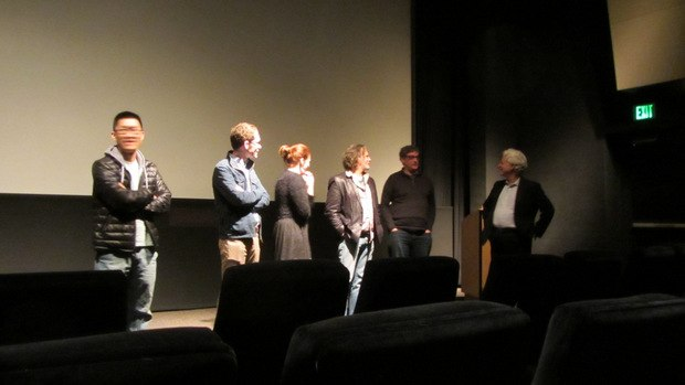Fox Q&A (from left to right) Minkyu Lee, Tim Reckart, Fondhla Cronin O'Reilly, David Silverman, Al Jean and Ron Diamond.
