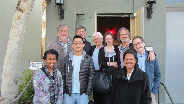 (Bottom row from left to right) Karen Toliver (vp production at Fox Animation), Minkyu Lee and Vanessa Morrison (president of Fox Animation). (Back row from left to right) Matt Groening (creator, writer and producer of The Simpsons and Futurama), Al Jean (writer and producer of The Simpsons), Ron Diamond, Fondhla Cronin O'Reilly, David Silverman and Tim Reckart.