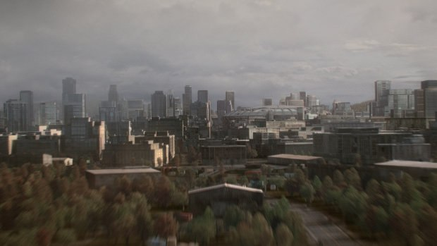 Another wide shot of the city