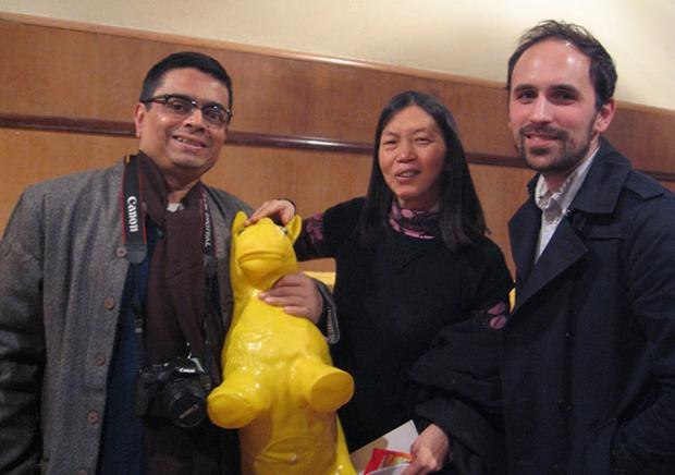 International Jury members Sekhar Mukherjee, Kim Keukeleire and Benjamin Renner.