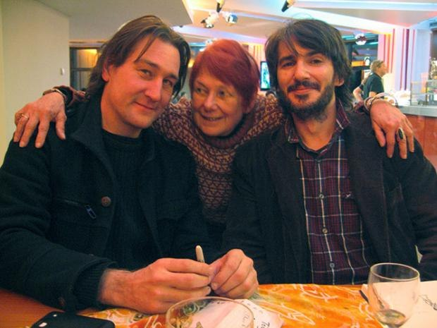 Hisko Hulsing (Junkyard), Franck Dion (Edmond Was a Donkey) and Nancy.
