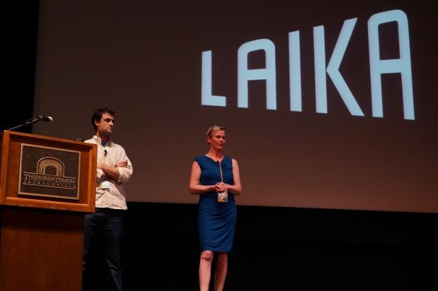 Laika presenters Brian McLean and Georgina Hayns.