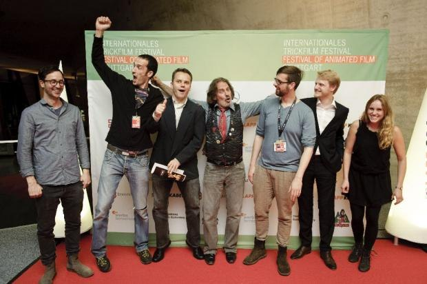Animated Com winners with David Silverman (Image courtesy Stuttgart Festival of Animated Film)