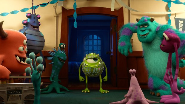 (Left to right) Mike and Sulley amongst other monsters.
