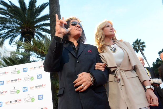 KISS frontman and media maven Gene Simmons with wife and reality TV-series co-star Shannon Tweed.