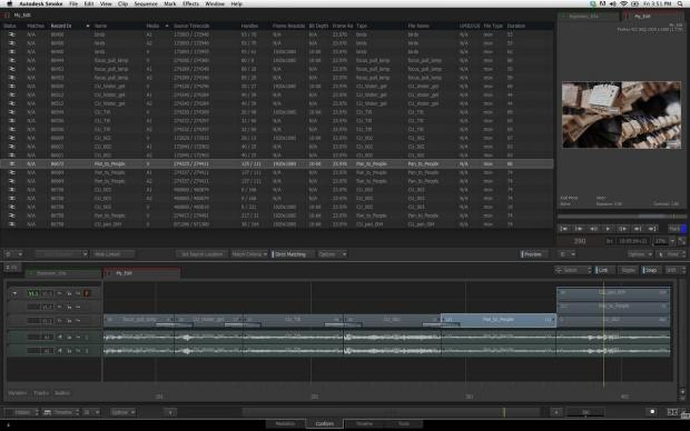 Smoke 2013 Extension 1 features an enhanced conform workflow with Apple Final Cut Pro X.