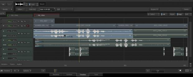 Editors can now work more quickly with Audio Gain animation curves directly in the timeline.