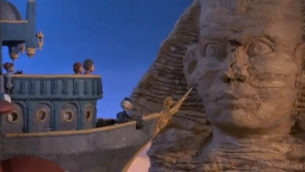 Twain and his crew encounter the Great Sphinx of Giza.