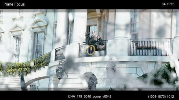 FINAL SHOT IN MOVIE (WITH CG WHITE HOUSE THROUGH CAR WINDOW) BY PRIME FOCUS