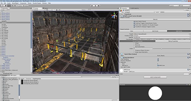 Procedural Level Generator Digital Asset in the Unity Game Engine