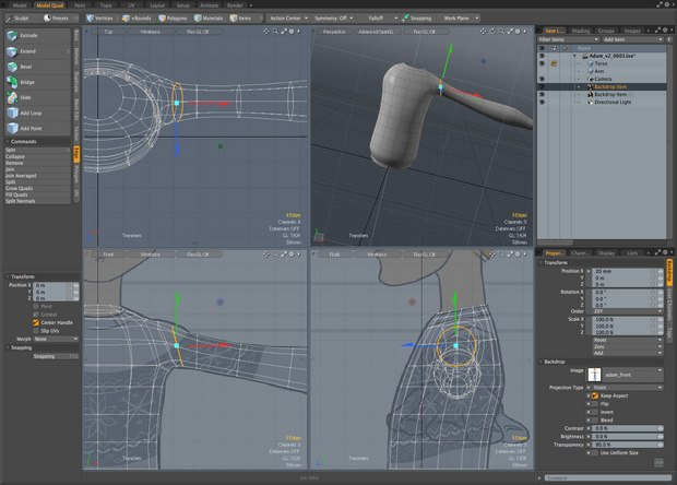 The MODO UI and workflow is slightly different to that of other 3D apps, but feels distinctly grown up.