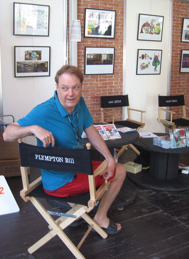 Bill Plympton in his chair.