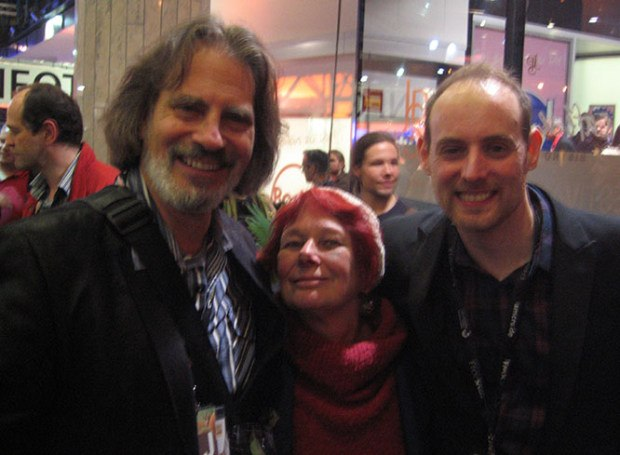David Silverman, Nancy and British producer Jamie Badminton.