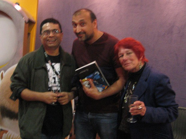 Sekhar Mukherjee of the National Institute of Design, British director Raj Yagnik and Nancy.