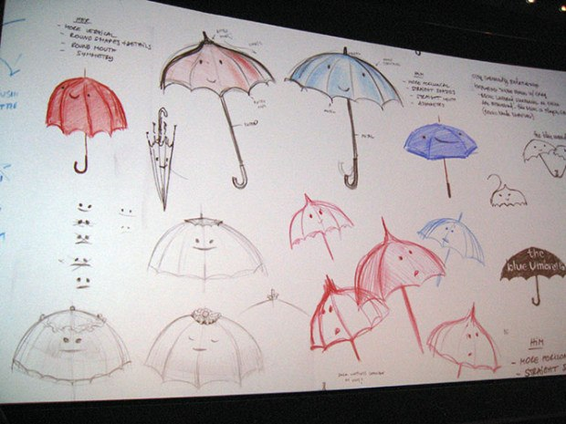 Designs for the Blue Umbrella.