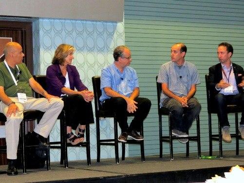 From left: Dr. Lincoln Wallen, Joni Jacobsen, Joe Herman, Mike Romey and Dr. Paul Navrátil. (Image: Omid Rahmat, JPR)
