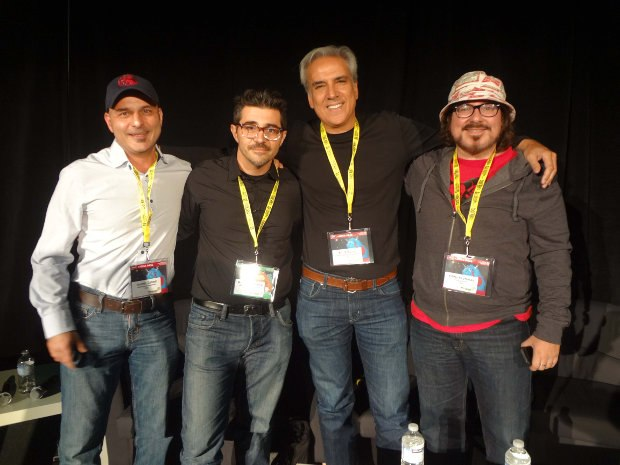 American Indies panel: Ramin Zahed, Michael Bellavia, Bill Schultz, Chris Prynoski