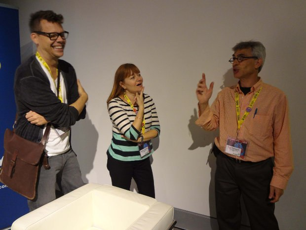 Do you recognize our friends Mike Moon, Brooke Keesling, and Gary Schwartz? I love Mike's big laugh.