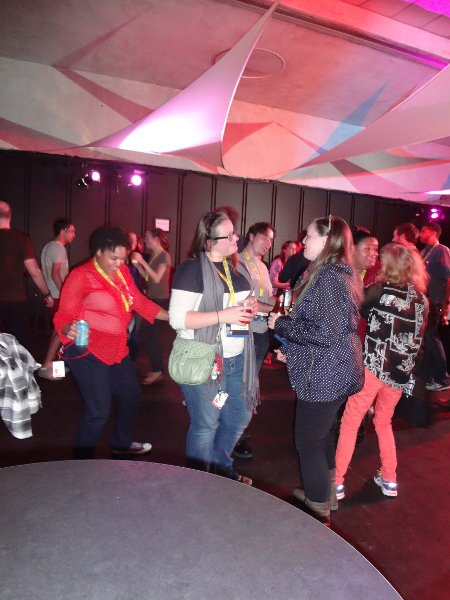 Who says that animators can't dance? Quite a few were happy to cut a rug at the Closing Party.