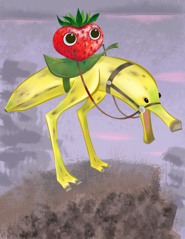 Early design Bananostrich by Craig Kellman