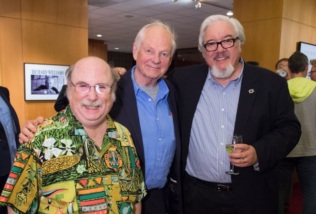 Eric Goldberg (l), Richard and Tom Sito (r).