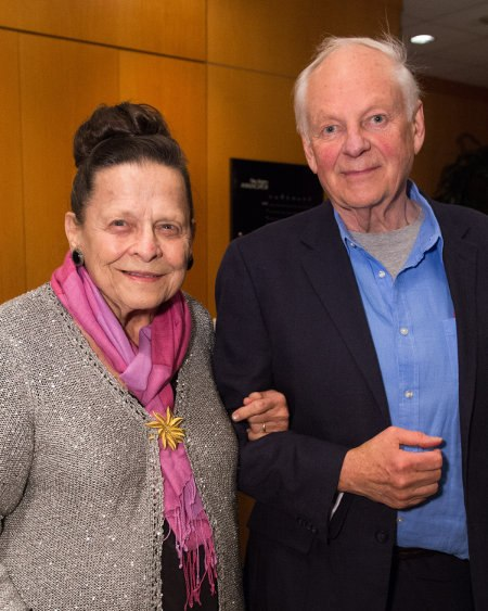 Richard with the event patron, Alice Davis (l), widow of Marc Davis.