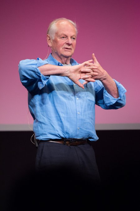 Richard entertained the packed theatre with tales of his 57 year career.
