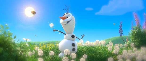 Olaf's dream sequence - spending a care-free day frolicking in the sun.