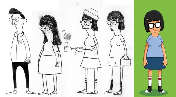 From Daniel Carver to Tina Belcher. Art by Jay Howell.