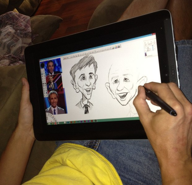 Digital drawing anywhere with the Wacom Companion.