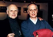 Former ASIFA International President, Raoul Servais and current ASIFA International President, Micheal Ocelot at Brussels '98. Photo courtesy of Folioscope.