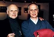 Raoul Servais, ancien Président de l'ASIFA International, et Michel Ocelot, Président actuel. Crédit Folioscope.