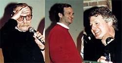 De gauche à droite: les présentateurs Jacques Rouxel, Robert Legato et Jean Carlée. Crédit Folioscope.