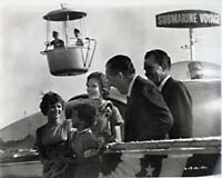 Walt Disney with the Richard Nixon family at the 1959 opening of the atomic submarine ride at Disneyland. Photo courtesy of Mark Langer.