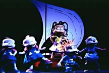 Phil, Lil, Chuckie, Tommy and Susie in Rugrats: A Live Adventure. Photo by Joan Marcus, published courtesy of Nickelodeon.