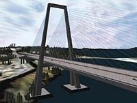 Coryphaeus Software created this real-time Bay Bridge model using SGI machines. © 1998 Coryphaeus Software, Inc.