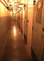 The hallway of a nitrate storage building, containing ten individual, specially-built storage vaults. The archive's nitrate film collection occupies 57 such vaults. Photo courtesy of and © UCLA.