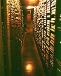 Interior of a nitrate vault. Each vault is capable of housing over 1,000 cans, or more than a million feet of film. Photo courtesy of and © UCLA.