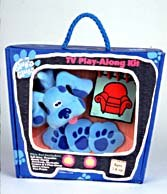 A TV play-along kit is among the new Blue's Clues toys available from Nickelodeon. © Nickelodeon.