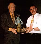 Barry Purves with Ray Harryhausen at the Masters of Animation conference in Seattle, 1997.Photo courtesy of and © Barry Purves.