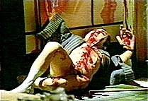 This gruesome scene from Barry Purves' Screen Play used a special red toothpaste to simulate blood. © Bare Boards Productions.