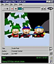 South Park characters have been brought to the Web by Smashing Ideas Animation, using RealFlash. © Comedy Central.