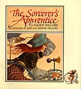The Sorcerer's Apprentice by Nancy Willard, with illustrations by Leo and Diane Dillon. © Scholastic Inc