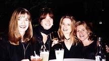Left to right: Sheila MacMullan (Warner Bros.), Sharon Bridgeman (HBO Animation), Annie Award winner Nora Johnson (Hanna-Barbera), and Alexandra Kube (Warner Bros.). Photo by Heather Kenyon. © Animation World Network.
