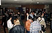 CINANIMA '97 guests gather in the lobby. Photo by Thomas Basgier. © Animation World Network.