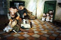 An installation of puppets from the Trnka studio, inside the Kratochvile Animation Museum. Photo courtesy of and © Wendy Jackson.