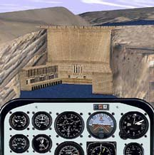 The HUD in Flight Simulator `98. © Microsoft.