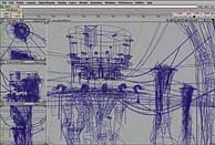Drawings are translated into three dimensions in a computer. This wireframe model was created in Alias/Wavefront. © Oddworld Inhabitants. All Rights Reserved.