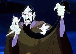 Rasputin, Anastasia's character of necessary evil, with his adorable side-kick, Bartok. © Twentieth Century Fox.